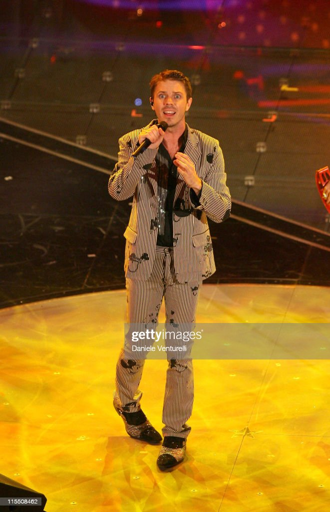 Jake Shears of Scissor Sisters during 57th San Remo Music Festival - Inaugural Evening at Teatro Ariston in Sanremo, Italy.