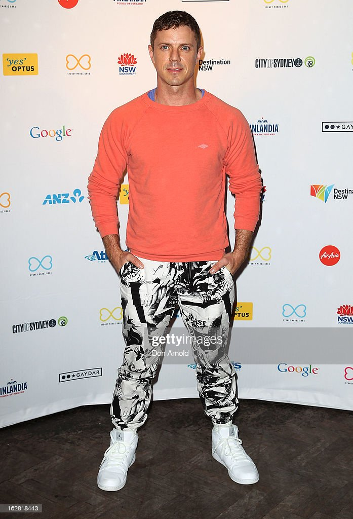 <a gi-track='captionPersonalityLinkClicked' href=/galleries/search?phrase=Jake+Shears&family=editorial&specificpeople=204691 ng-click='$event.stopPropagation()'>Jake Shears</a> poses at a Sydney Mardis Gras VIP party photo call at Kit and Kaboodle bar on February 28, 2013 in Sydney, Australia.