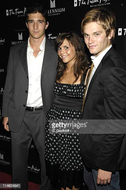 Jake Silbermann Alexandra Chando and Van Hansis during The Trevor Project's 'Harmony Heart Humor' Summer Gala at The Hudson Theater in New York City...