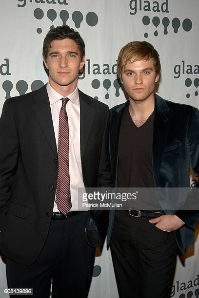 Jake Silbermann and Van Hansis attend 18th Annual GLAAD Media Awards at Marriott Marquis on March 26 2007 in New York City