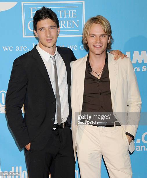 Jake Silbermann and Van Hansis pose in the press room at the 36th Annual Daytime Emmy Awards held at the Orpheum Theatre in Los Angeles California on...