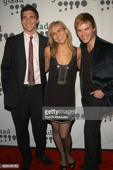 Jake Silbermann Jennifer Landon and Van Hansis attend 18th Annual GLAAD Media Awards at Marriott Marquis on March 26 2007 in New York City