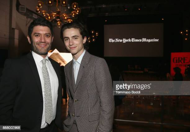 Jake Silverstein and Timothee Chalamet at The New York Times Magazine Celebrates 'The Great Performers Issue' 2017 on December 7 2017 in Los Angeles...