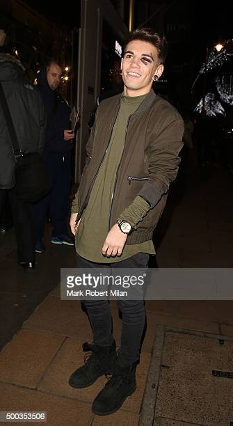 Jake Sims attending the Metro's Guilty Pleasures Christmas Party on December 7 2015 in London England