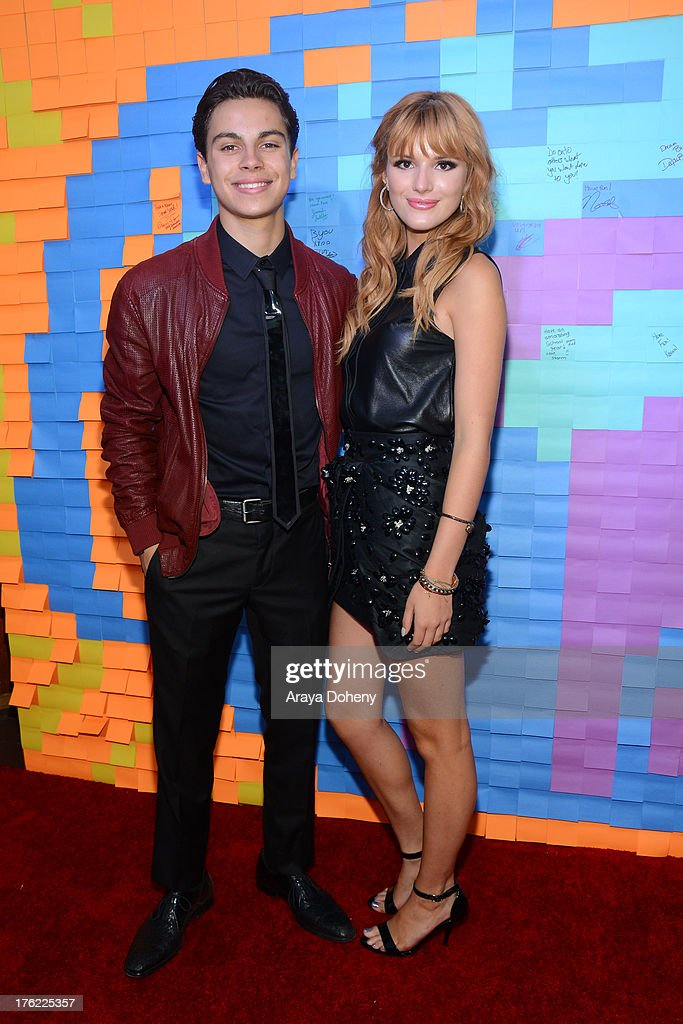 <a gi-track='captionPersonalityLinkClicked' href=/galleries/search?phrase=Jake+T.+Austin&family=editorial&specificpeople=709221 ng-click='$event.stopPropagation()'>Jake T. Austin</a> and <a gi-track='captionPersonalityLinkClicked' href=/galleries/search?phrase=Bella+Thorne&family=editorial&specificpeople=5083663 ng-click='$event.stopPropagation()'>Bella Thorne</a> attend Teen Choice Awards After 'Party' For A Cause Hosted by Boys & Girls Clubs of America and Staples at Saddle Ranch on August 11, 2013 in Universal City, California.