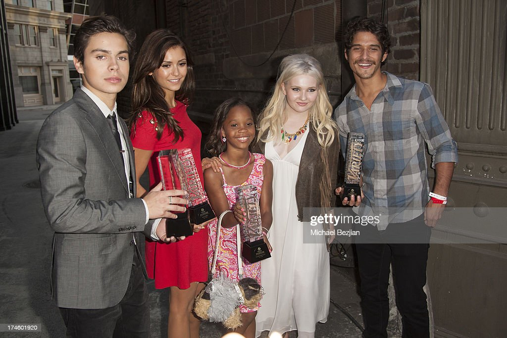 <a gi-track='captionPersonalityLinkClicked' href=/galleries/search?phrase=Jake+T.+Austin&family=editorial&specificpeople=709221 ng-click='$event.stopPropagation()'>Jake T. Austin</a>, <a gi-track='captionPersonalityLinkClicked' href=/galleries/search?phrase=Nina+Dobrev&family=editorial&specificpeople=4397485 ng-click='$event.stopPropagation()'>Nina Dobrev</a>, Quvenzhane Wallis, <a gi-track='captionPersonalityLinkClicked' href=/galleries/search?phrase=Abigail+Breslin&family=editorial&specificpeople=226628 ng-click='$event.stopPropagation()'>Abigail Breslin</a> and <a gi-track='captionPersonalityLinkClicked' href=/galleries/search?phrase=Tyler+Posey&family=editorial&specificpeople=3201481 ng-click='$event.stopPropagation()'>Tyler Posey</a> attend Flips Audio At Variety Power of Youth at Universal Studios Backlot on July 27, 2013 in Universal City, California.