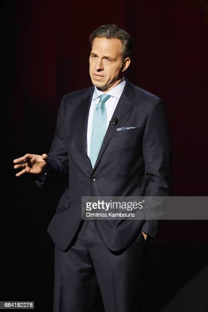 Jake Tapper speaks onstage during the Turner Upfront 2017 show at The Theater at Madison Square Garden on May 17 2017 in New York City 26617_003