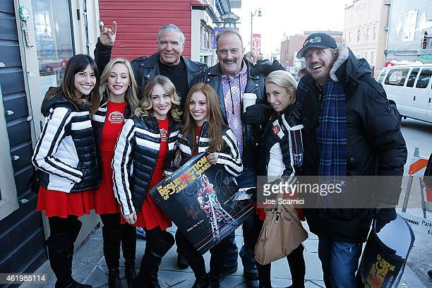 Jake 'The Snake' Roberts Scott Hall and Diamond Dallas Page pose on Main Street during the 2015 Sundance Film Festival on January 22 2015 in Park...