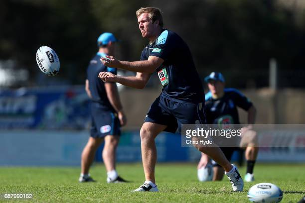 Jake Trbojevic passes during a New South Wales Blues State of Origin training session at Cudgen Leagues Club on May 25 2017 in Kingscliff Australia