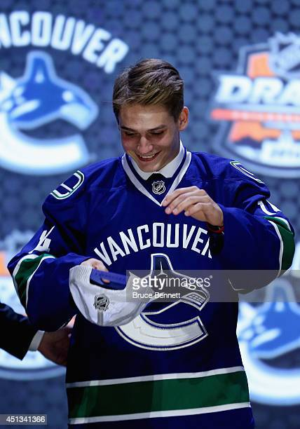 Jake Virtanen is selected sixth overall by the Vancouver Canucks in the first round of the 2014 NHL Draft at the Wells Fargo Center on June 27 2014...