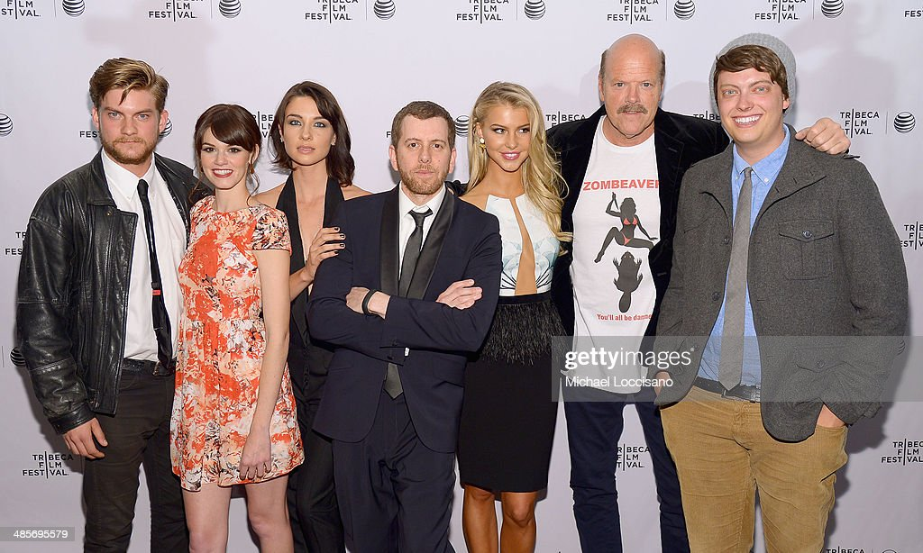 Jake Weary, Rachel Melvin, Cortney Palm, Jordan Rubin, Lexi Atkins, Rex Linn and Peter Gilroy attend the 'Zombeavers' Premiere during the 2014 Tribeca Film Festival at Chelsea Bow Tie Cinemas on April 19, 2014 in New York City.