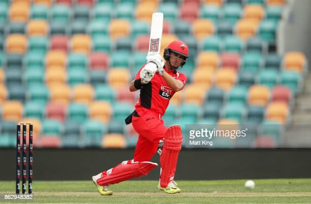 Jake Weatherald of the Redbacks bats during the JLT One Day Cup match between South Australia and Victoria at Blundstone Arena on October 19 2017 in...