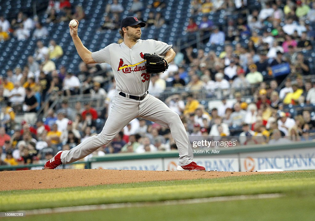 <a gi-track='captionPersonalityLinkClicked' href=/galleries/search?phrase=Jake+Westbrook&family=editorial&specificpeople=207132 ng-click='$event.stopPropagation()'>Jake Westbrook</a> #35 of the St. Louis Cardinals pitches against the Pittsburgh Pirates during the game on August 28, 2012 at PNC Park in Pittsburgh, Pennsylvania.