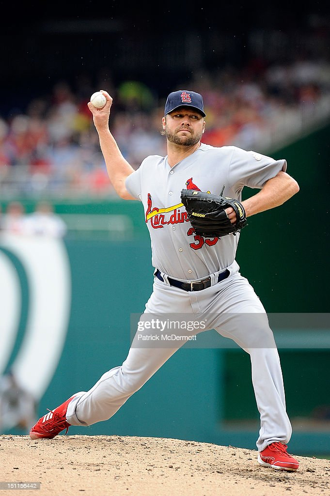 <a gi-track='captionPersonalityLinkClicked' href=/galleries/search?phrase=Jake+Westbrook&family=editorial&specificpeople=207132 ng-click='$event.stopPropagation()'>Jake Westbrook</a> #35 of the St. Louis Cardinals throws a pitch against the Washington Nationals at Nationals Park on September 2, 2012 in Washington, DC.