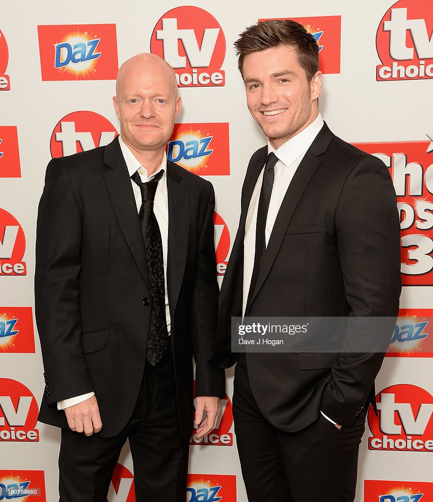 <a gi-track='captionPersonalityLinkClicked' href=/galleries/search?phrase=Jake+Wood+-+British+Actor&family=editorial&specificpeople=15203702 ng-click='$event.stopPropagation()'>Jake Wood</a> and Dave Witts attend the TV Choice Awards 2013 at The Dorchester on September 9, 2013 in London, England.