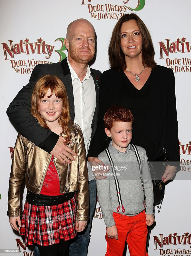 Jake Wood and family attends the UK Premiere of 'Nativity 3: Dude Where's My Donkey?' at Vue West End on November 2, 2014 in London, England.