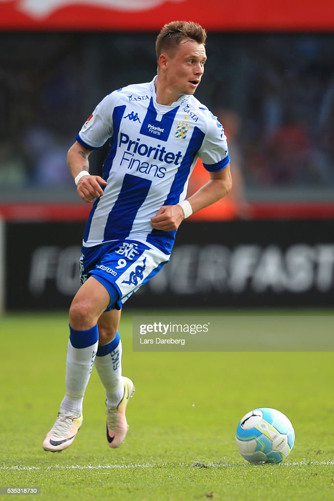 Jakob Ankersen of IFK Goteborg during the Allsvenskan match between Helsingborgs IF and IFK Goteborg at Olympia on May 29, 2016 in Helsingborg, Sweden.