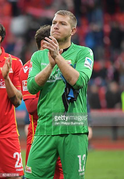 Jakob Busk of 1 FC Union Berlin during the game between dem 1 FC Union Berlin and dem VfB Stuttgart on november 20 2016 in Berlin Germany