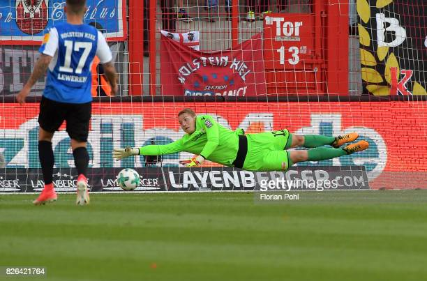 Jakob Busk of 1 FC Union Berlin during the game between Union Berlin and Kieler SV Holstein on august 4 2017 in Berlin Germany