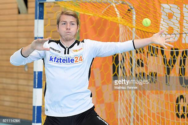Jakob Busk of 1 FC Union Berlin during the goalkeeper training on april 14 2016 in Berlin Germany