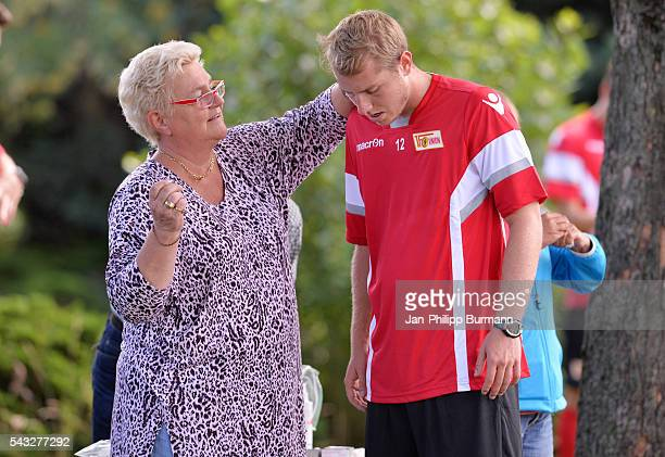 Jakob Busk of 1 FC Union Berlin during the lactate tests on June 27 2016 in Berlin Germany
