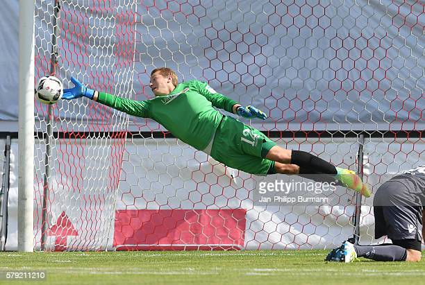 Jakob Busk of 1 FC Union Berlin during the test match between FC Energie Cottbus and 1 FC Union Berlin on july 23 2016 in Cottbus Germany