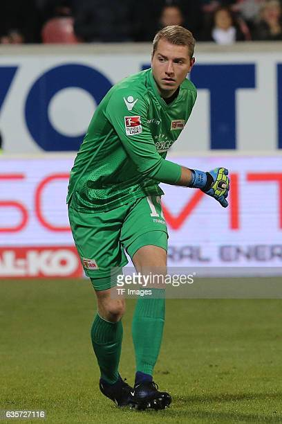 Jakob Busk of FC Union Berlin looks on during a 2 Bundesliga match between 1FC Heidenheim and Union Berlin on December 09 2016 in Heidenheim Germany