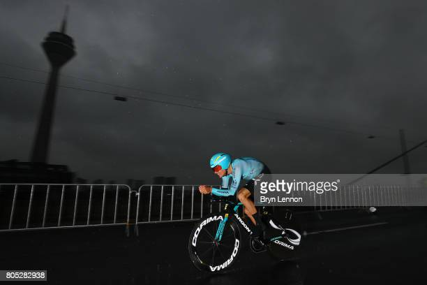 Jakob Fuglsang of Denmark and Astana Pro Team competes during stage one of Le Tour de France 2017 a 14km individual time trial on July 1 2017 in...