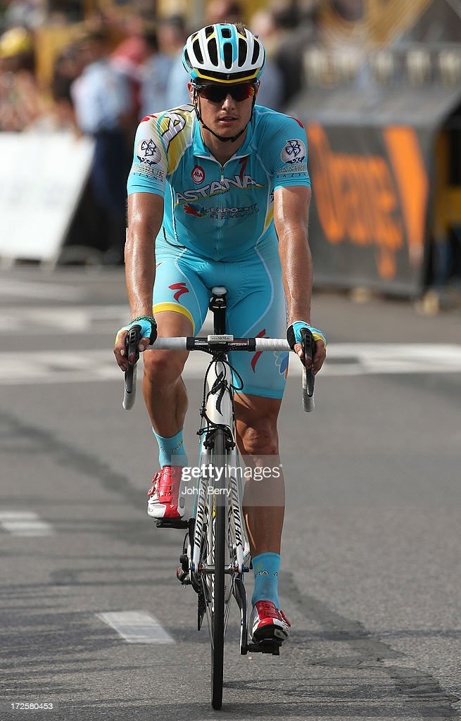 Jakob Fuglsang of Denmark and Astana Pro Team finishes Stage Five of the Tour de France 2013 - the 100th Tour de France -, a 228km road stage from Cagnes-sur-Mer to Marseille on July 3, 2013 in Marseille, France.
