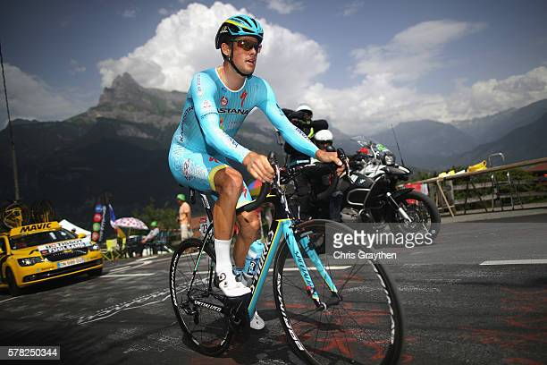 Jakob Fuglsang of Denmark and Astana Pro Team rides during stage eighteen of the 2016 Le Tour de France from Sallanches to Megeve on July 21 2016 in...
