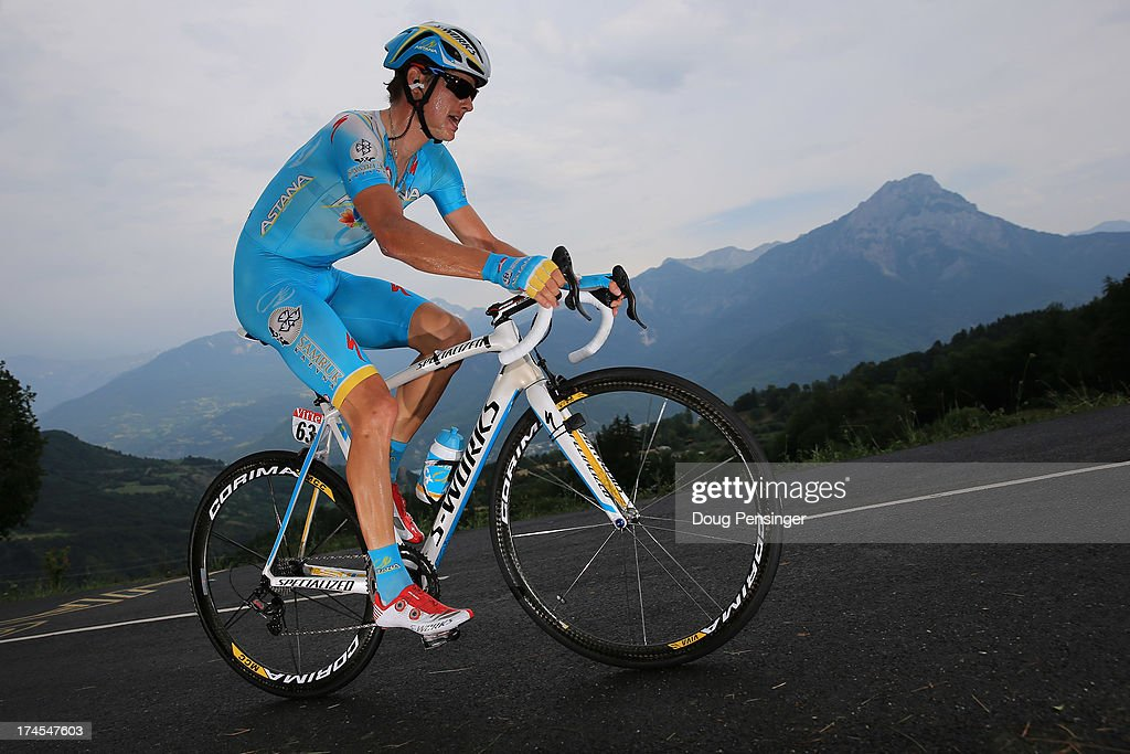 Jakob Fuglsang of Denmark riding for Astana Pro Team competes during stage seventeen of the 2013 Tour de France, a 32KM Individual Time Trial from Embrun to Chorges, on July 17, 2013 in Chorges, France.