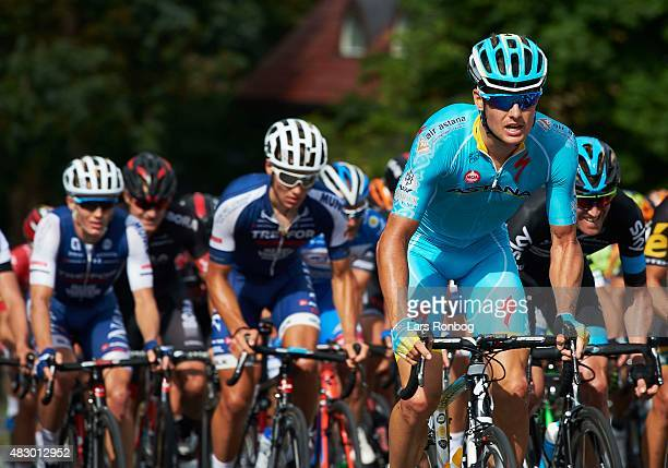 Jakob Fuglsang of Team Astana in action during stage 2 of the 2015 Tour of Denmark a 235km stage from Ringkobing to Aarhus on August 5 2015 in Aarhus...