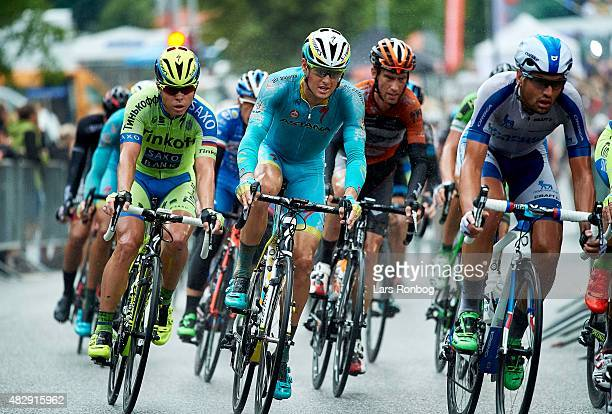 Jakob Fuglsang of Team Astana in action on Stage 1 of the 2015 Tour of Denmark a 180km stage from Struer to Holstebro on August 4 2015 in Holstebro...