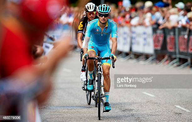 Jakob Fuglsang og Team Astana in action during stage 4 of the 2015 Tour of Denmark a 116km stage from Slagelse to Frederiksvark on August 7 2015 in...