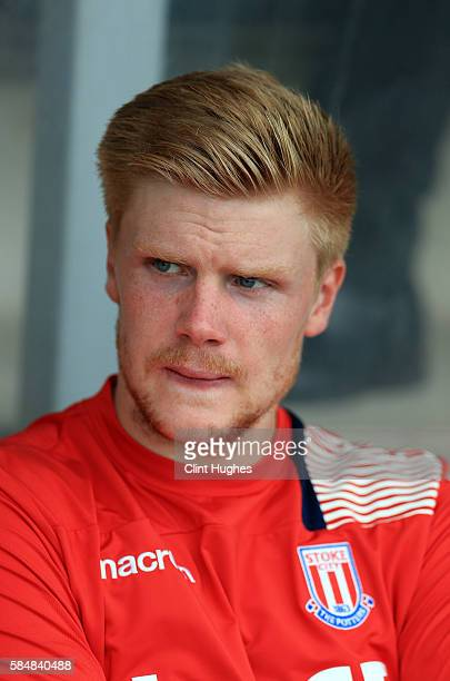 Jakob Haugaard of Stoke City during the Pre Season Friendly match between Burton Albion and Stoke City at the Pirelli Stadium on July 16 2016 in...