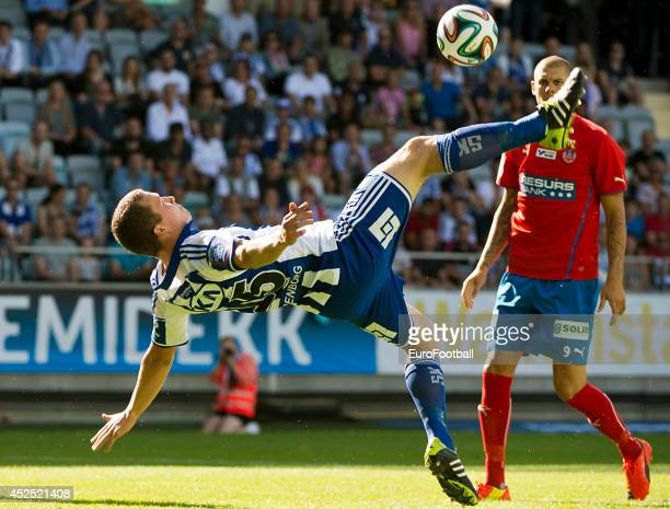 Jakob Johansson of IFK Goteborg in action during the Swedish Allsvenskan League match between IFK Goteborg and Helsingborg at the Gamla Ullevi...