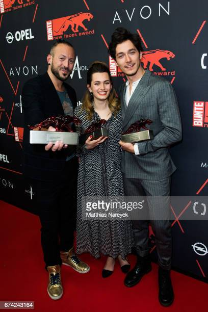Jakob M Erwa Ella Rumpf and Noah Saavedra attend the New Faces Award Film at Haus Ungarn on April 27 2017 in Berlin Germany