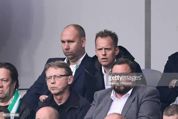 Jakob Michelsen head coach during the Allsvenskan match between Hammarby IF and Djurgardens IF at Tele2 Arena on June 4 2017 in Stockholm Sweden