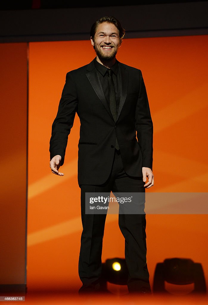 Jakob Oftebro on stage at the Shooting Stars stage presentation during the 64th Berlinale International Film Festival at the Berlinale Palast on February 10, 2014 in Berlin, Germany.