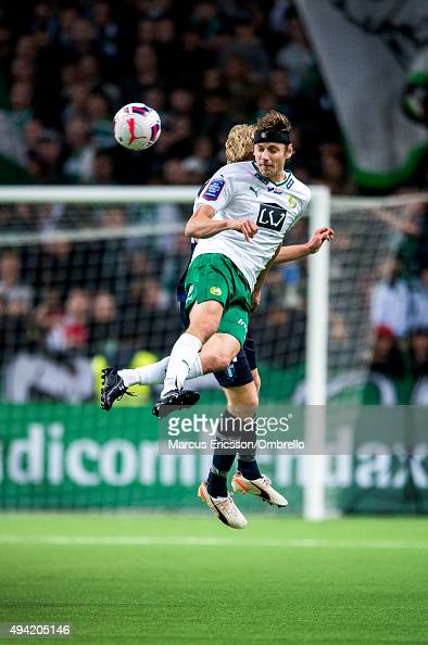 Jakob Orlov of Hammarby IF in action during the Allsvenskan match between Hammarby IF and Malmo FF at Tele2 Arena on October 25 2015 in Stockholm...