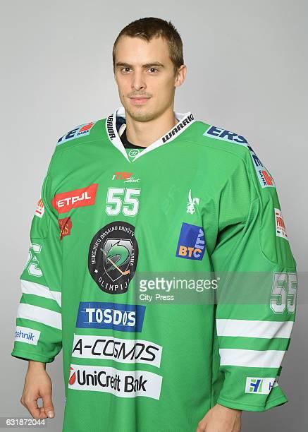 Jakob Raisp of HDD Olimpija Ljubljana during the portrait shot on September 16 2016 in Ljubljana Slovenia