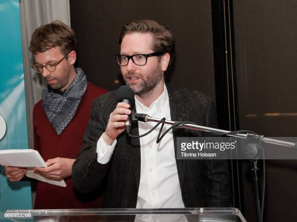 Jakob Rorvik receives a special mention for his film at the 2017 Aspen Shortsfest Awards Dinner on April 9 2017 at Aspen Kitchen in Aspen Colorado