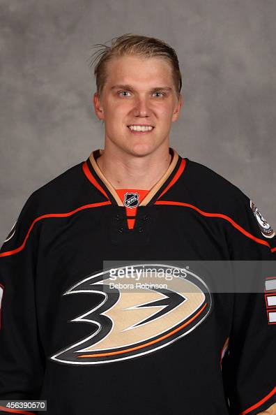 Jakob Silfverberg of the Anaheim Ducks poses for his official headshot for the 20142015 season on September 18 2014 at the Honda Center in Anaheim...