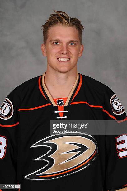 Jakob Silfverberg of the Anaheim Ducks poses for his official headshot for the 20152016 season on September 10 2015 at Honda Center in Anaheim...