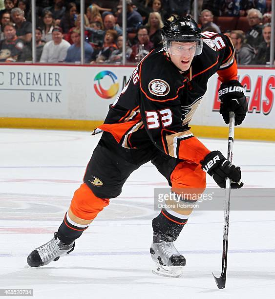 Jakob Silfverberg of the Anaheim Ducks skates against the Colorado Avalanche on March 20 2015 at Honda Center in Anaheim California