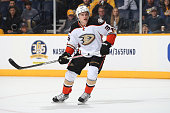Jakob Silfverberg of the Anaheim Ducks skates against the Nashville Predators during an NHL game at Bridgestone Arena on November 17 2015 in...