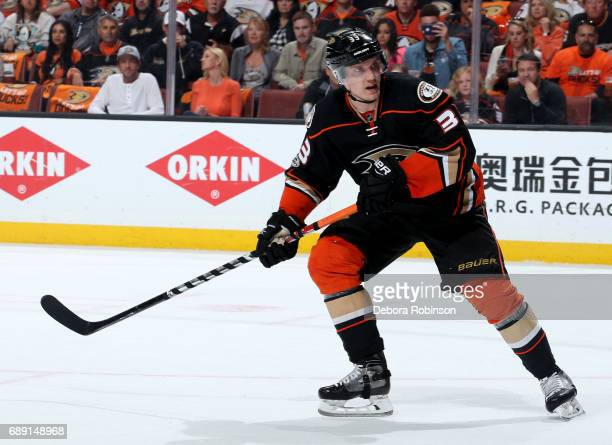 Jakob Silfverberg of the Anaheim Ducks skates against the Nashville Predators in Game Five of the Western Conference Final during the 2017 NHL...