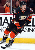 Jakob Silfverberg of the Anaheim Ducks skates against the St Louis Blues on October 19 2014 at Honda Center in Anaheim California