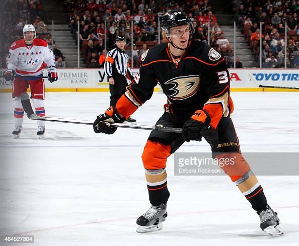 Jakob Silfverberg of the Anaheim Ducks skates against the Washington Capitals on February 15 2015 at Honda Center in Anaheim California