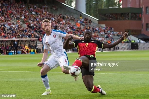 Jakub Brabec of Czech Republic Romelu Lukaku of Belgiumduring the friendly match between Belgium and Czech Republic on June 05 2017 at the Koning...